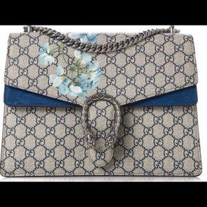 Authentic Gucci GG Blooms Print Medium Dionysus